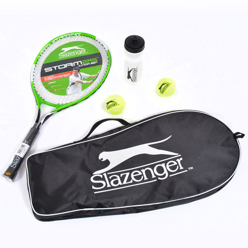 Slazenger Storm 25 Inch Junior Tennis Starter Set With Bag, Balls and Water Bottle