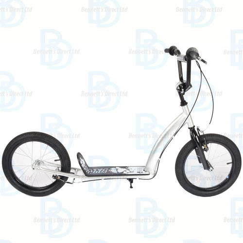 "Childrens Muddypaws 16"" Kick Scooter - Silver Ages 5+ - Design your own Scooter"