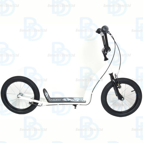 "Muddypaws 16"" Kick Scooter - White - Ages 5+ - Design your own Scooter"