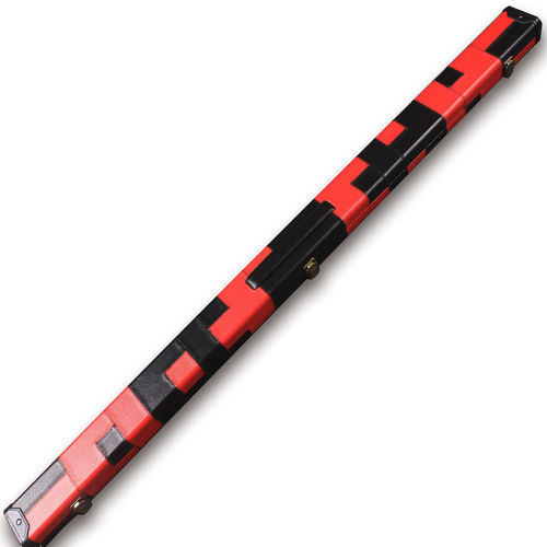 Handmade 3/4 Deluxe Patchwork Style Snooker Cue Case - Red / Black