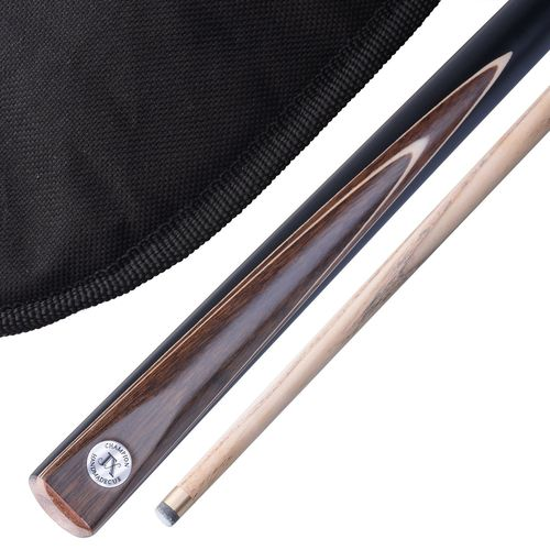 "Stunning Handmade 2 piece 57"" Snooker Cue / Pool Cue - Carry Case"