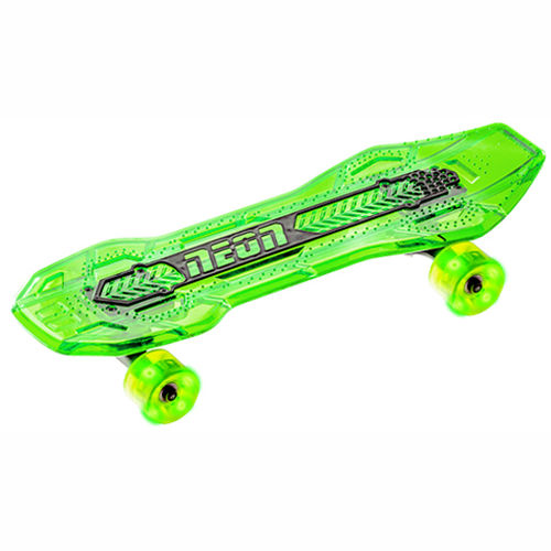Neon Cruzer Skateboard - Green - Skate the streets with LED deck and wheels