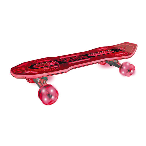 Neon Cruzer Skateboard - Red - Skate the streets with LED deck and wheels