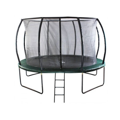 12ft Jump Capsule DELUXE Mk II Trampoline with Stay Safe Enclosure - FREE Cover and Ladder