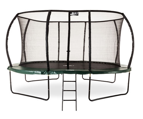 10ft x 7ft Telstar Oval Jump Capsule DELUXE MkII Trampoline with Stay Safe Enclosure - Cover/Ladder
