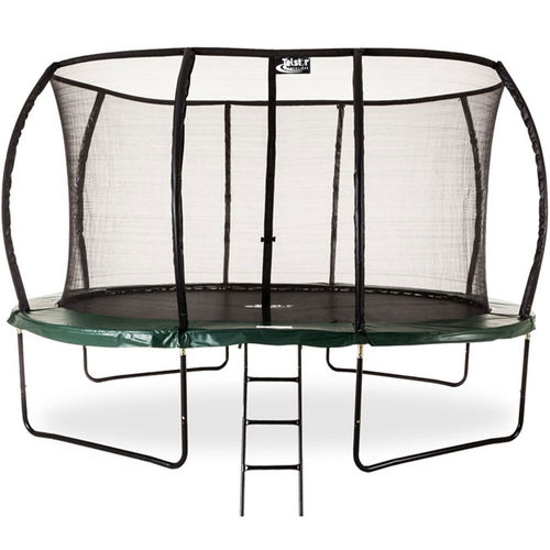 15ft x 10ft Telstar Oval Jump Capsule DELUXE MkII Trampoline with Stay Safe Enclosure - Cover/Ladder