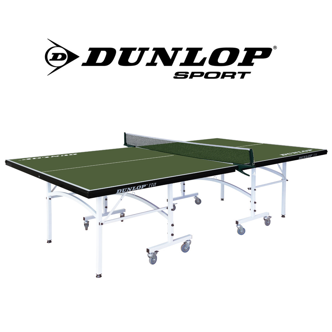Dunlop tti1 full size indoor table tennis table in green - Full size table tennis table dimensions ...
