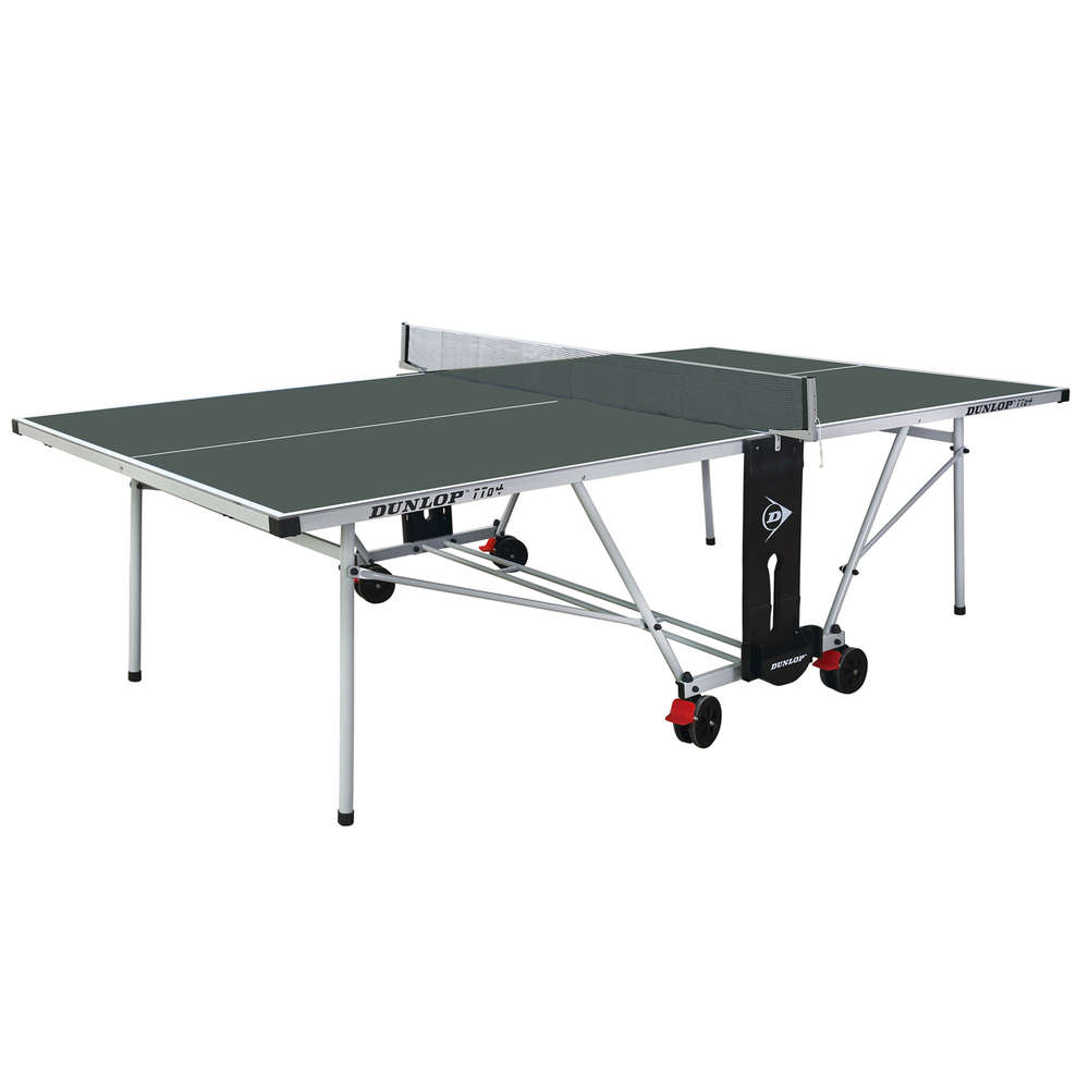 Dunlop TTo4 Full Size Outdoor Table Tennis Table In Green With Bats, Balls,  Cover
