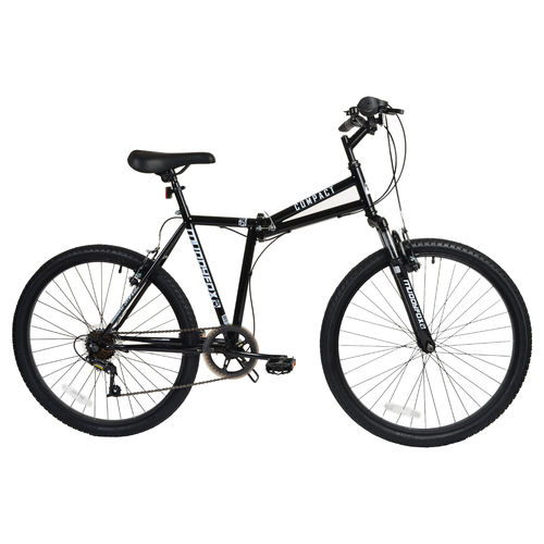 "Muddyfox Compact 26"" Folding Bike - Steel Frame - Black"