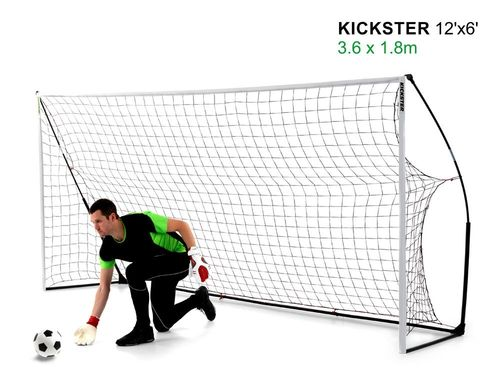 Kickster Academy 12ft x 6ft Ultra Portable Football Goal - 2 Minutes Setup