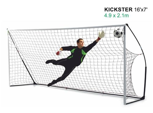 Kickster Academy 16ft x 7ft Ultra Portable Football Goal - 2 Minutes Setup