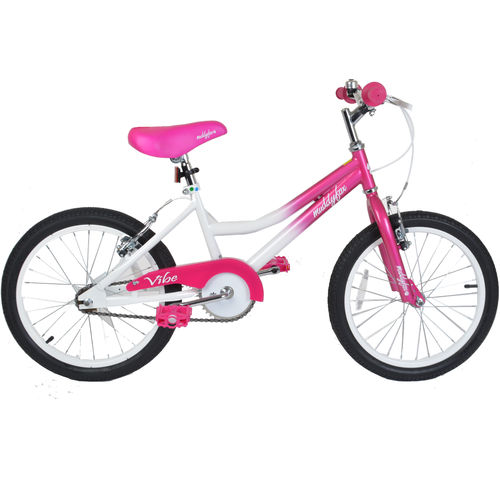 "Muddyfox Vibe 18"" Girls BMX Style Bike in White and Pink"