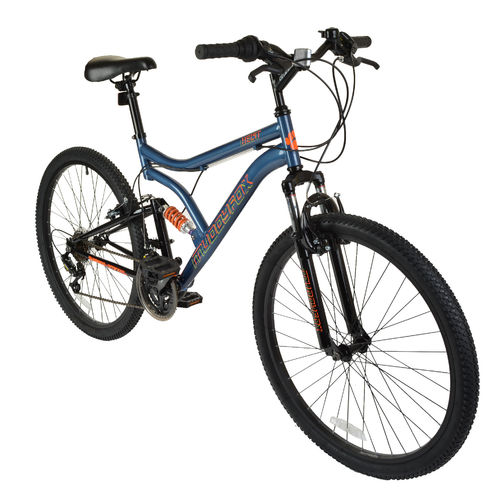"Muddyfox Heist 26"" Gents Dual Suspension Mountain Bike in Smoked Blue"