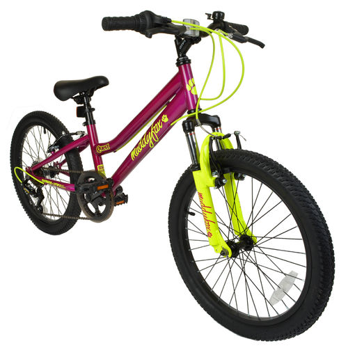 "Muddyfox Quest 20"" Girls Hardtail Mountain Bike in Purple and Yellow"