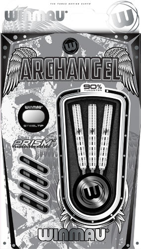 Archangel 90% Tungsten White Professional Steel Tip Darts in 24 Grams by Winmau