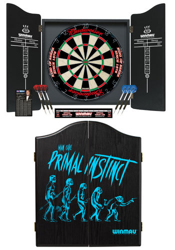 The Mans Ultimate Dream 'Primal Instinct' Winmau Complete Dart Set - Specialist Budweiser Dartboard