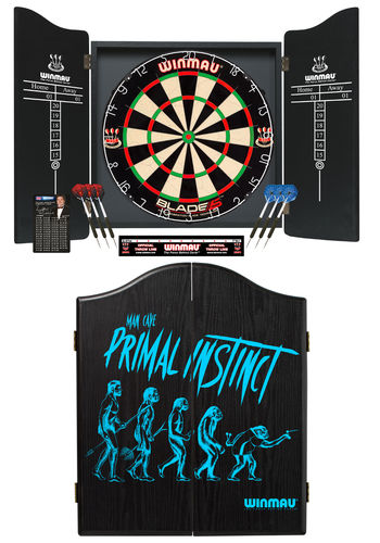 The Mans Ultimate Dream 'Primal Instinct' Winmau Complete Dart Set - Blade 5 Professional Dartboard
