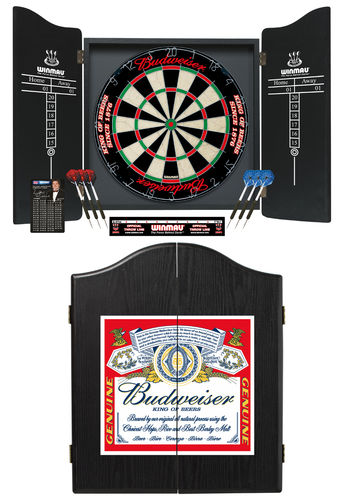 Deluxe Winmau Budweiser Complete Dart Set with Specialist Budweiser Dartboard