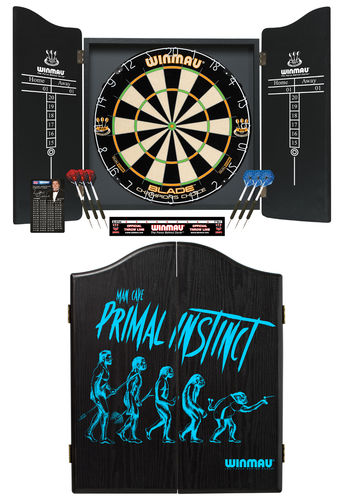 The Primal Instinct Deluxe Winmau Complete Dart Set - Blade 5 Champions Choice Dual Core Dartboard