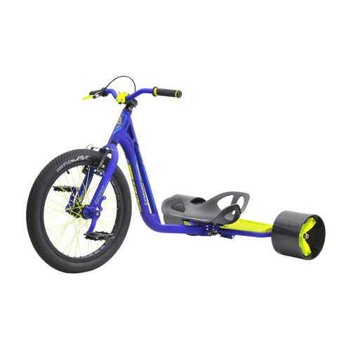 Triad Underworld Drift Trike in Blue and Neon Yellow