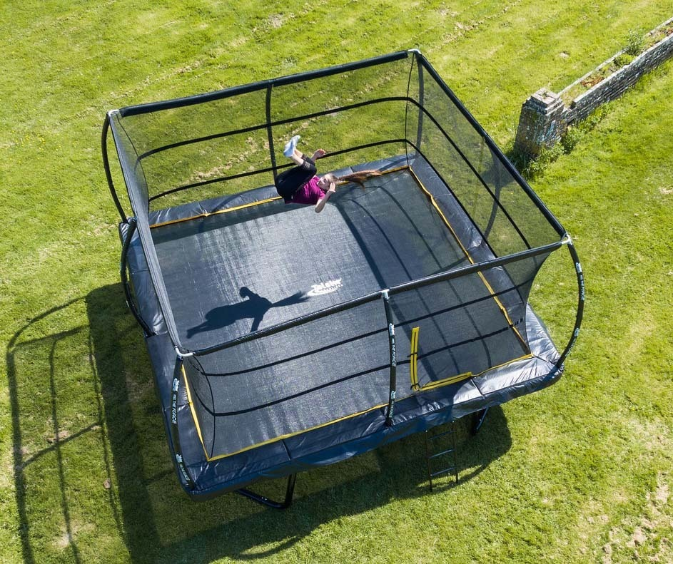 Jumpsport Elite 14 Ft Powerbounce Trampoline With: 12ft X 12ft Telstar ELITE Bounce Arena Trampoline Package