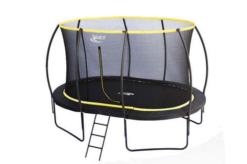 7 x 10ft Oval Telstar Orbit Trampoline And Enclosure Package