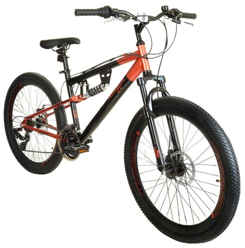 "Muddyfox 26"" Dakota Full Suspension Mountain Bike in Black and Rose Gold - Shimano Gears"