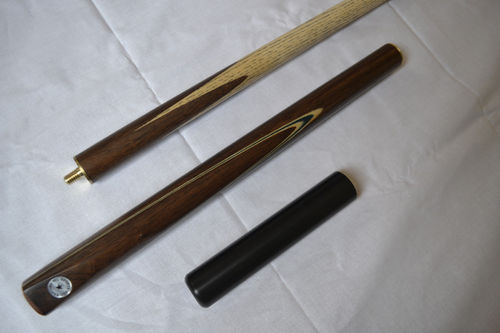 "Handmade 3/4 Jointed 57"" Ash Shaft Rosewood Butt Snooker Cue - E4 Female Thread Mini Butt"